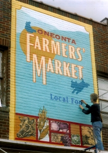 Oneonta Farmers Market Sign